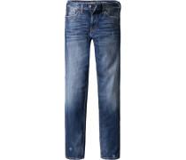 Jeans Slim Fit Baumwoll-Stretch dunkelblau