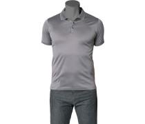 Polo-Shirt Polo Baumwoll-Jersey silbergrau