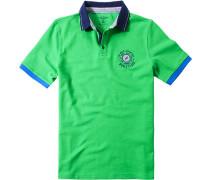 Herren Polo-Shirt Polo Baumwoll-Piqué grasgrün