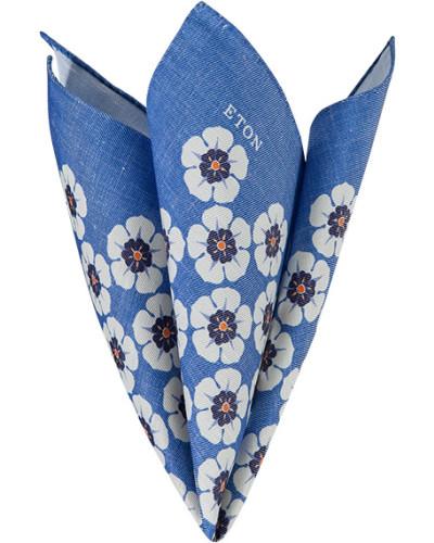 Accessoires Einstecktuch Seide azurblau