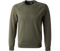 Sweatshirt, Baumwolle, khaki
