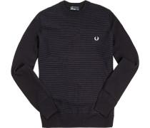 Pullover Baumwolle aqua-marineblau