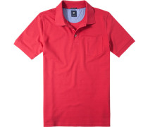 Herren Polo-Shirt Polo Baumwoll-Piqué rot