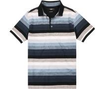 Polo-Shirt Polo, Baumwoll-Jersey, gestreift