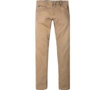 Herren Jeans Modern Fit Baumwoll-Stretch camel beige