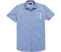 Hemd, Baumwolle, himmelblau-weiß gestreift