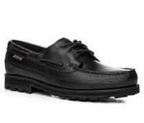 Herren Schnürschuhe Leder schwarz schwarz,schwarz