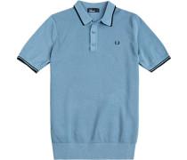 Pullover Baumwolle taubenblau
