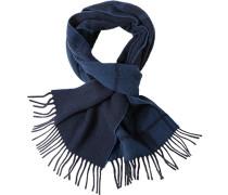 Schal Wolle jeansblau-dunkelblau kariert