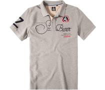 Polo-Shirt Polo Baumwoll-Piqué meliert