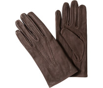 Handschuhe, Rindleder, schokobraun