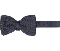 Krawatte Schleife, Seide, navy meliert