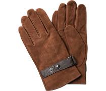 JOOP Handschuhe Veloursleder mittelbraun