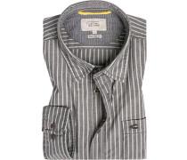 Hemd, Regular Fit, Oxford, -blau gestreift