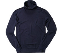 Herren Pullover Schurwolle-Seide nachtblau