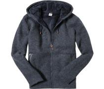 Hoodie Wolle DryFlight® Technology rauchblau