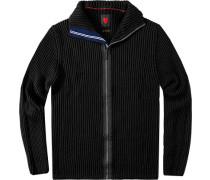 Herren strellson Sportswear Cardigan Lecter-J Schurwoll-Mix schwarz