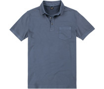 Polo-Shirt Polo Baumwolle taubenblau