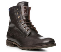 Schuhe Stiefeletten Kalbleder schwarz
