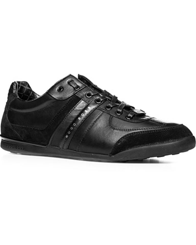 hugo boss herren herren schuhe sneaker leder mix schwarz schwarz schwarz reduziert. Black Bedroom Furniture Sets. Home Design Ideas