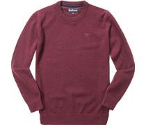 Pullover Wolle-Seide bordeaux