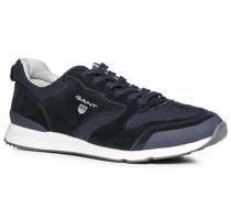 Schuhe Sneaker Leder-Textil marine