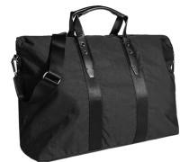 Herren Tasche  Reisetasche Baumwoll-Mix schwarz