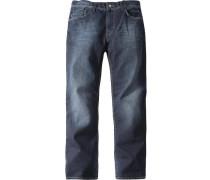 Herren Blue-Jeans 'Rick' Slim Fit Baumwolle-Elasthan blau