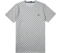 Herren T-Shirt Baumwolle grau gemustert