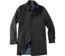 Herren Mantel Wollmischung anthrazit grau