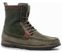Schuhe Schnürstiefeletten Veloursleder-Canvas