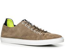 Herren Schuhe Sneaker Veloursleder hellbraun braun,gelb