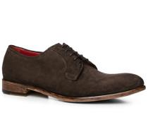 Schuhe Derby Veloursleder testa di moro