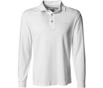 Herren Polo-Shirt Polo Baumwoll-Jesey weiß