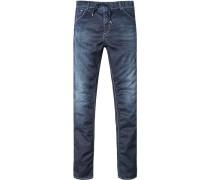 Herren Jeans Cosy Pants Baumwoll-Mix blau