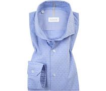 Hemd, Shaped Fit, Baumwolle,