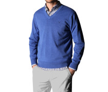 Pullover Baumwolle azurblau