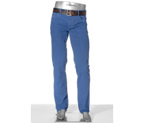 Herren Jeans Pipe Regular Slim Fit Fadeout Twill mit Stretch himmelblau
