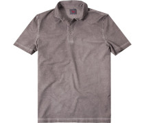 Polo-Shirt Baumwoll-Jersey hellbraun