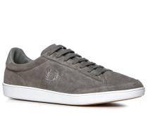 Schuhe Sneaker Veloursleder mittelgrau