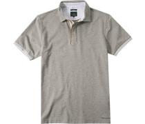 Polo-Shirt Polo Slim Fit Baumwoll-Piqué meliert