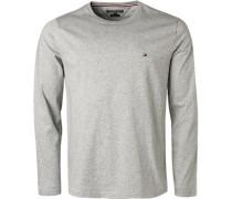 T-Shirt Longsleeve, Baumwolle, meliert
