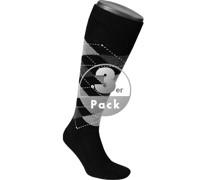 Socken Kniestrümpfe Original Acryl 3er-Pack schwarz-