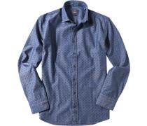 Hemd Modern Fit Baumwolle denim meliert