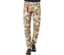 Hose Cargohose Baumwolle camouflage