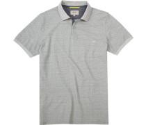 Polo-Shirt Polo Baumwoll-Piqué gemustert