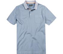 Polo-Shirt Polo, Baumwolle mercerisiert, hellblau gepunktet
