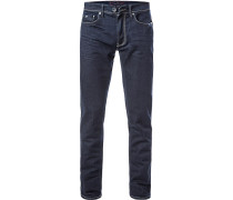 Jeans, Slim Fit, Baumwoll-Stretch 10,5oz, marineblau