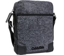 Herren Calvin Klein Blue-Jeans Umhängetasche Microfaser-Mix schwarz-grau