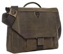 Tasche Aktentasche, Nubukleder, hellbraun